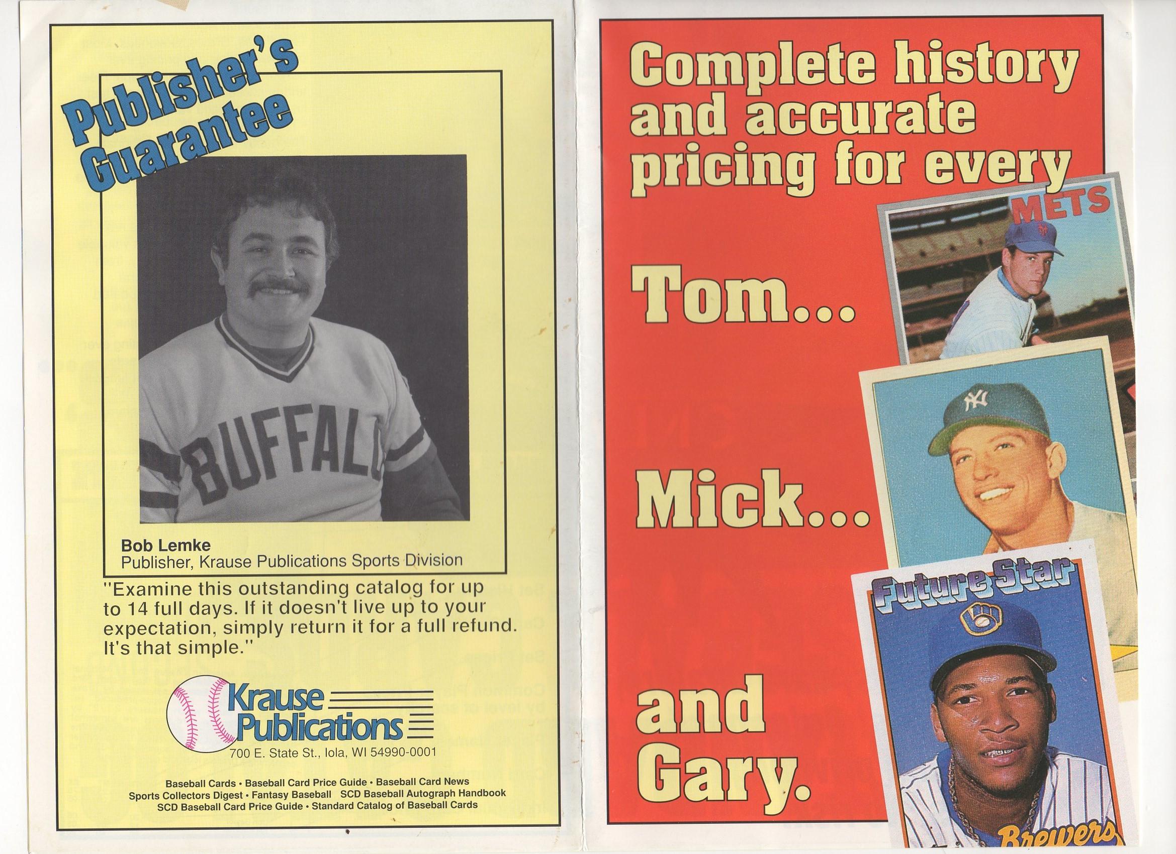 1989 standard BB cards