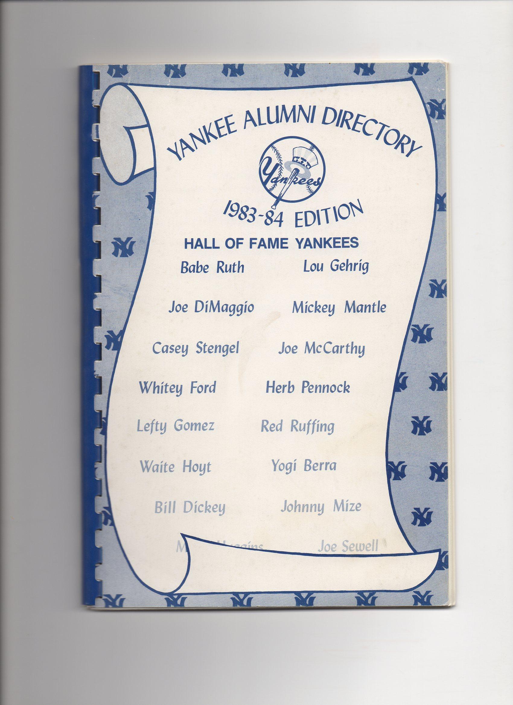 1983 to 1984 yankee alumni directory