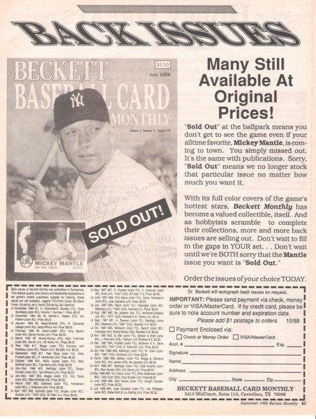 1988 beckett September