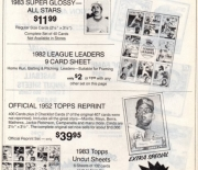 1983 baseball advertiser summer
