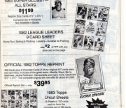 1983 Baseball Advertiser fall