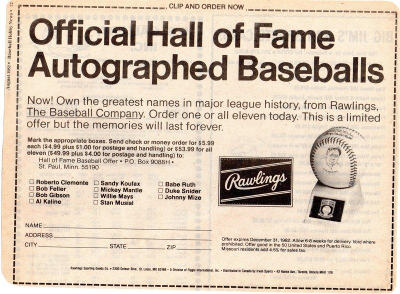 1982 baseball hobby news august
