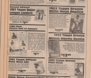 1988 san diego sports collectibles, summer/fall catalog