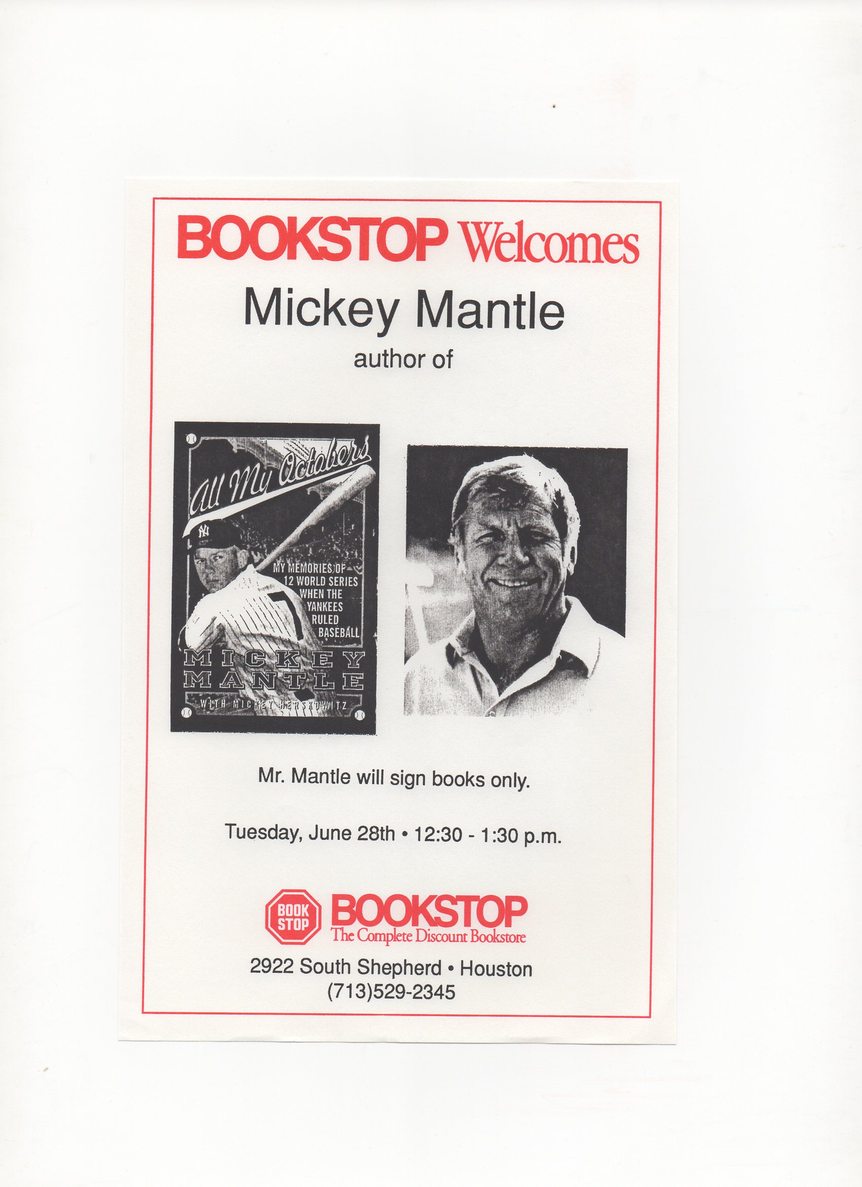 1994-1995 bookstop stores flyer, tuesday 06/28