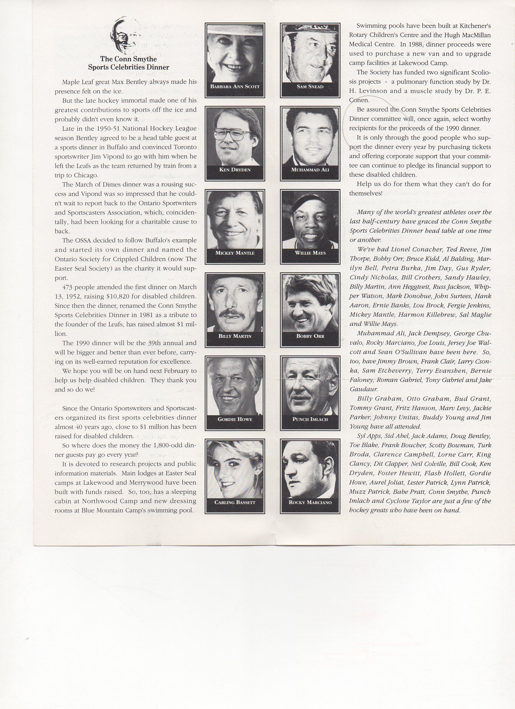 1990 conn smythe dinner, ,inside pages