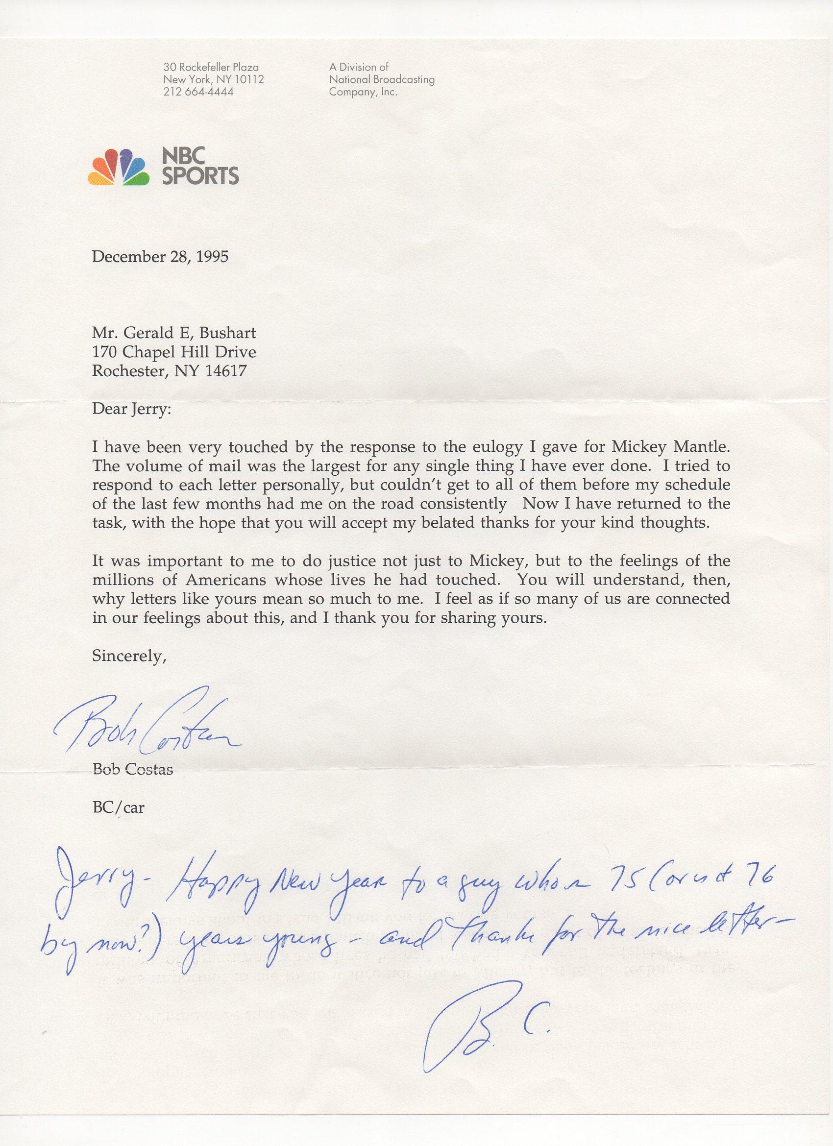 1995 nbc sports, bob costas