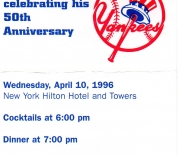 1996 NYY homecoming dinner, 04/10/1996