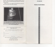 1990 conn smythe dinner, front and back