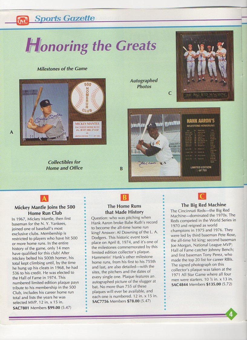 1991 QVC sports gazette, autumn edition
