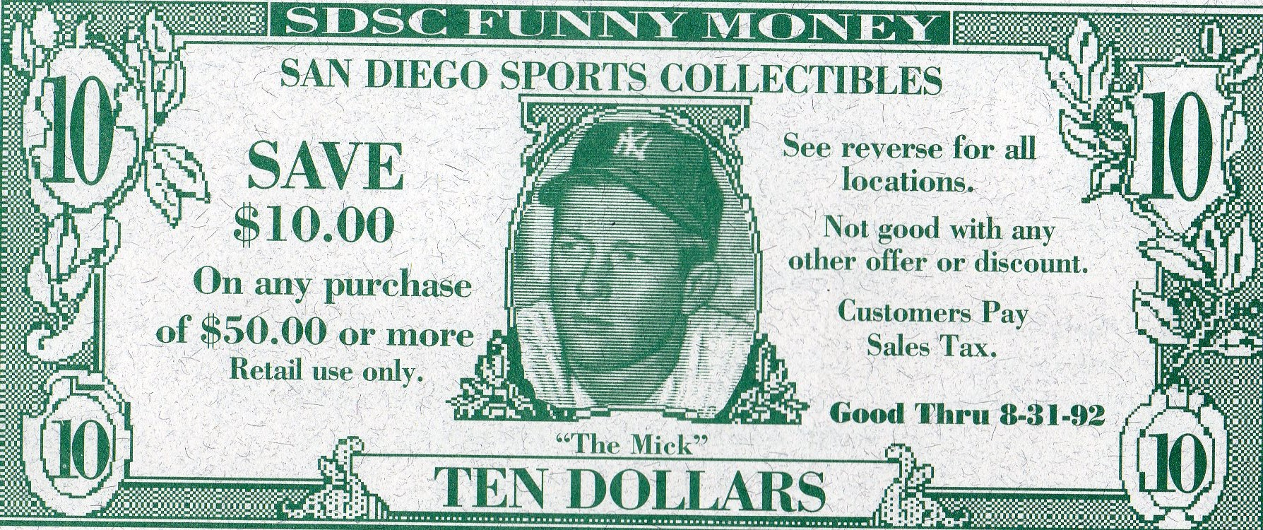 1992 sdsc funny money
