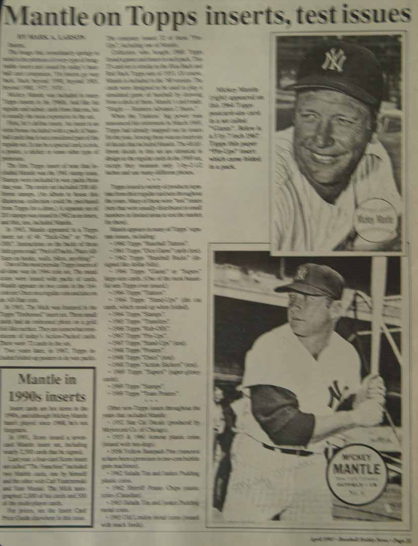 1993 baseball hobby news april
