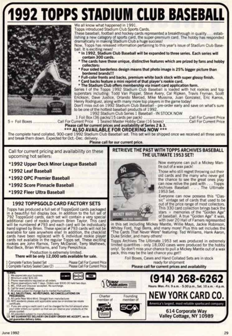 1992 price guide monthly