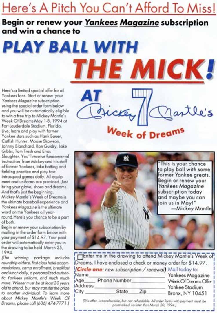 1994 yankees magazine