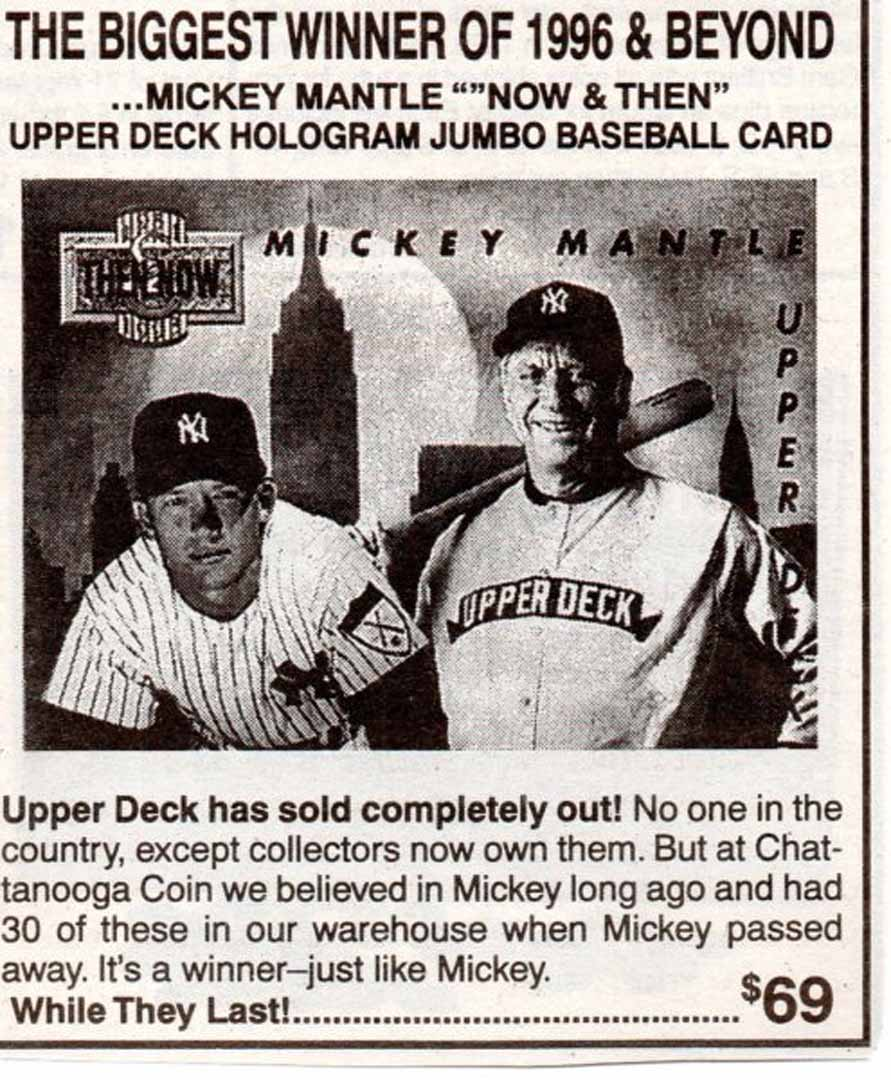 1996 coin @ sports card wholesaler