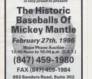 1996 north shore sports auctions 03/01