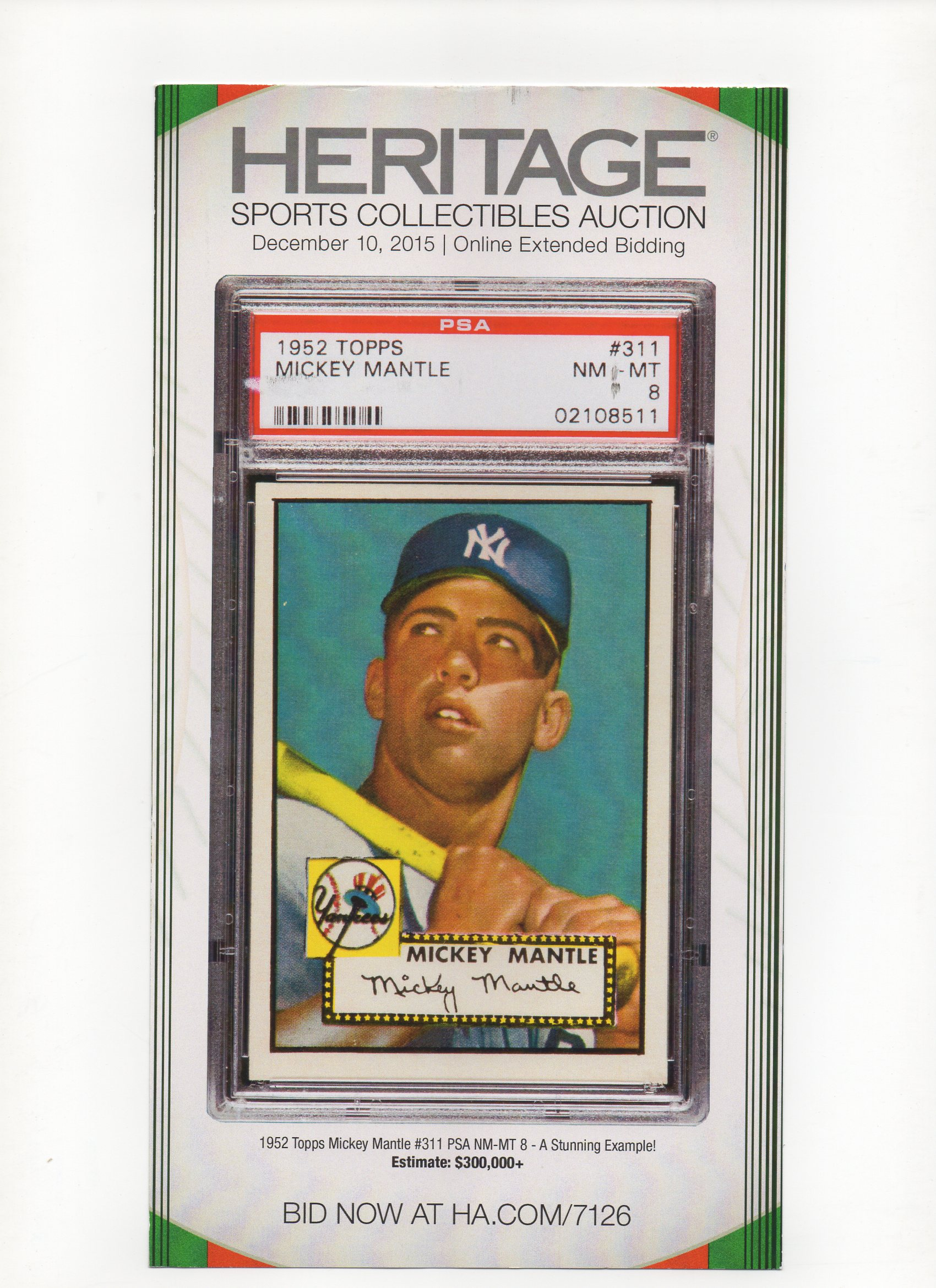 2015 heritage auctions 12/10