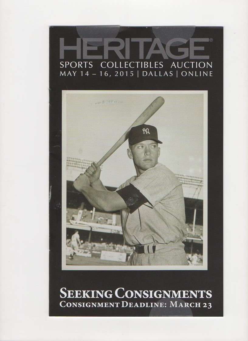 2015 heritage auctions, 05/14-16/2015