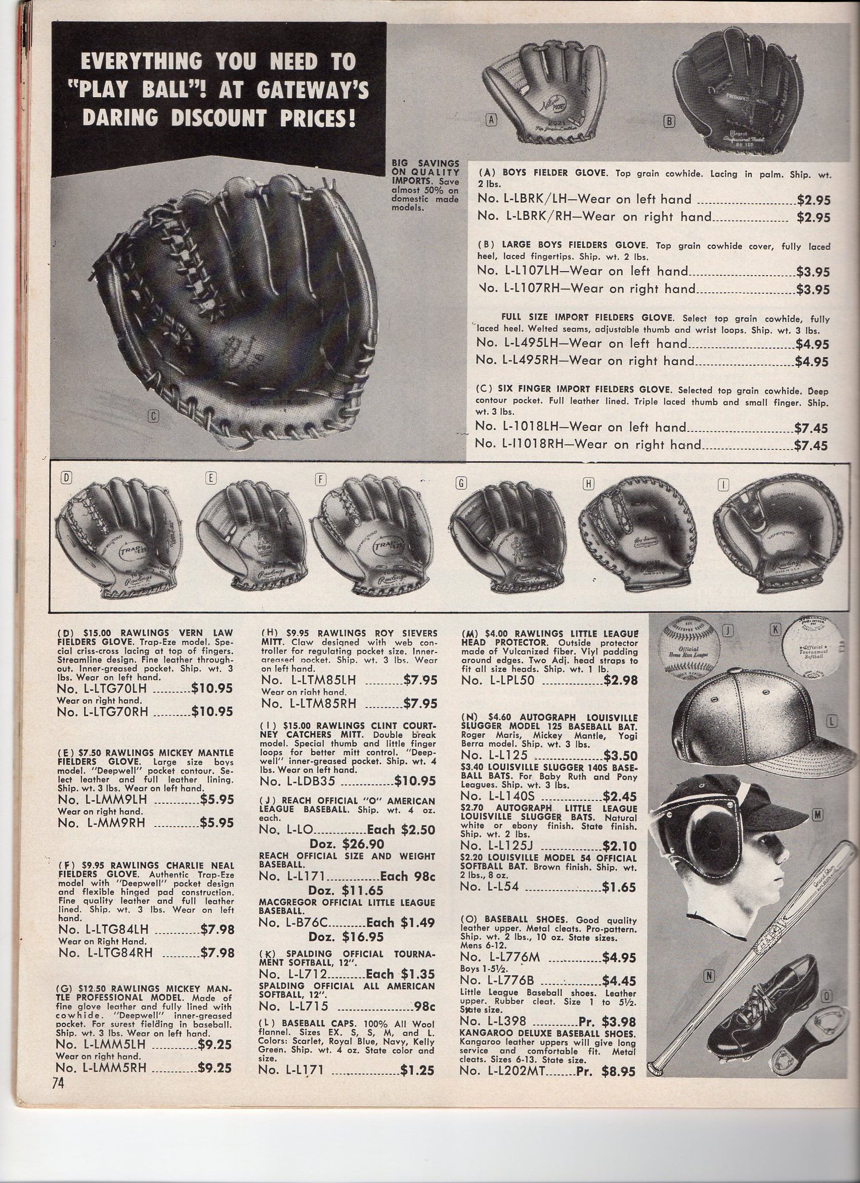 1962 gateway spring and summer catalog