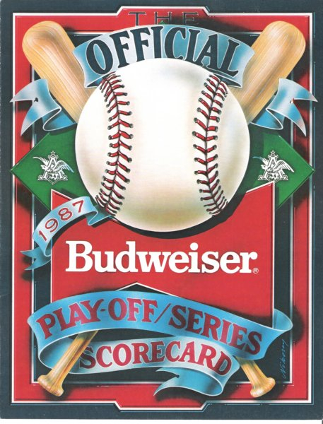 1987 playoff series score card