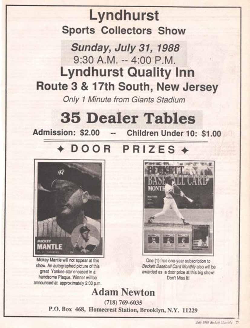 1988 beckett july