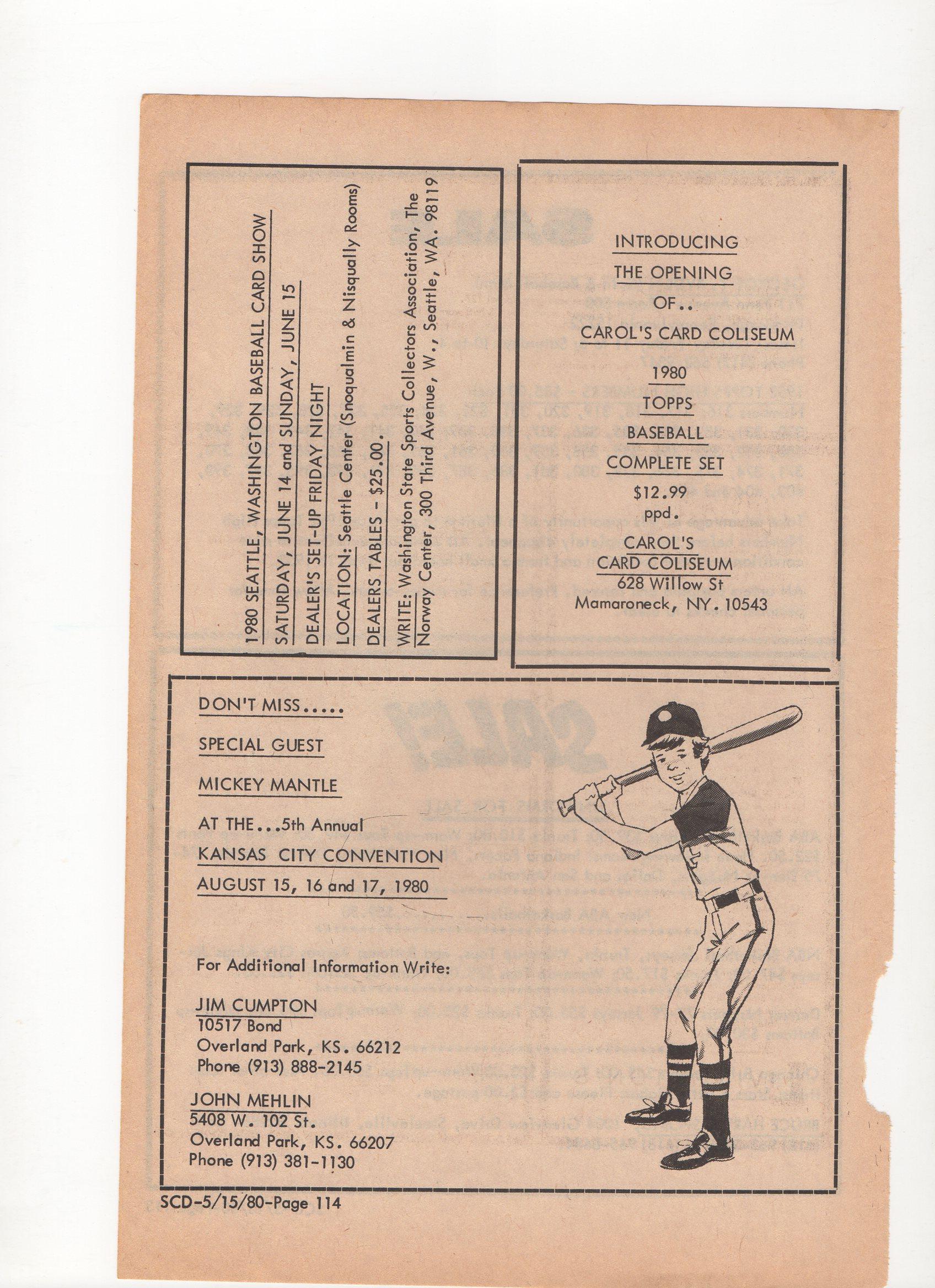 1980 SCD, 05/15/1980