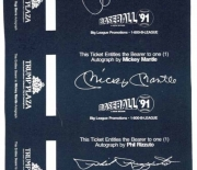1991 autograph tickets