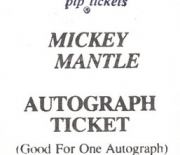 1990 autograph ticket 05/90