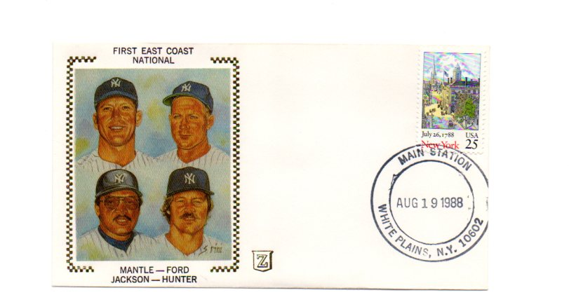 1988 Z cachets 08/19 main sta. postmark
