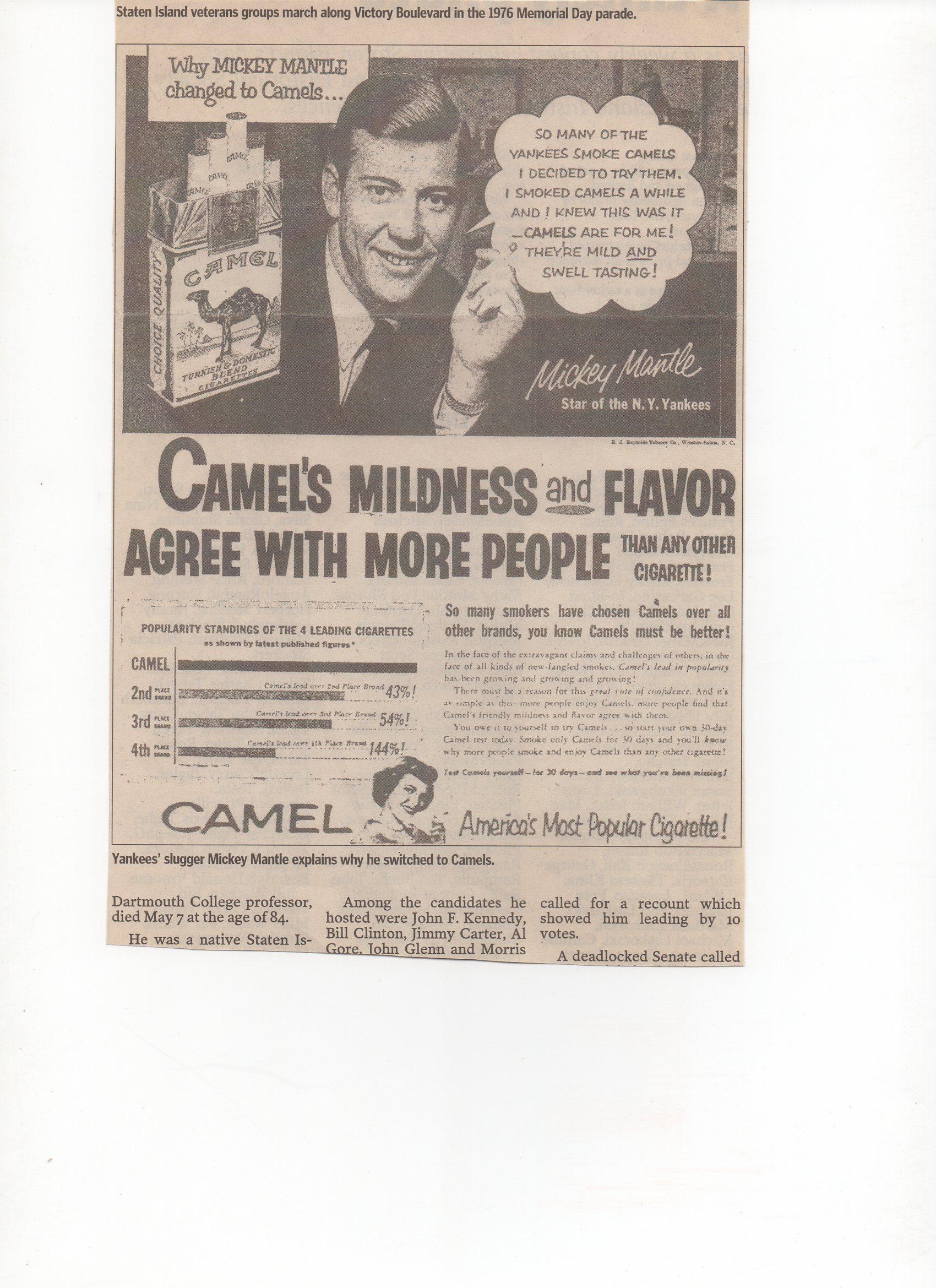 1976 newspaper reprint ad