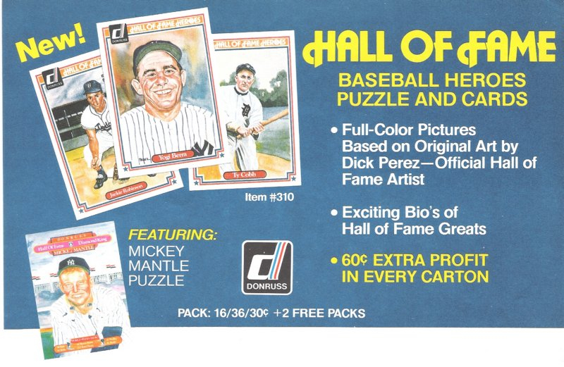 1983 donruss hall of fame
