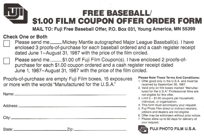 1987 fuji tearoff coupon