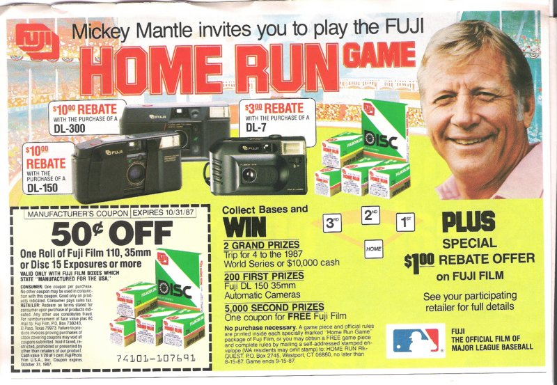 1987 unknown newspaper insert