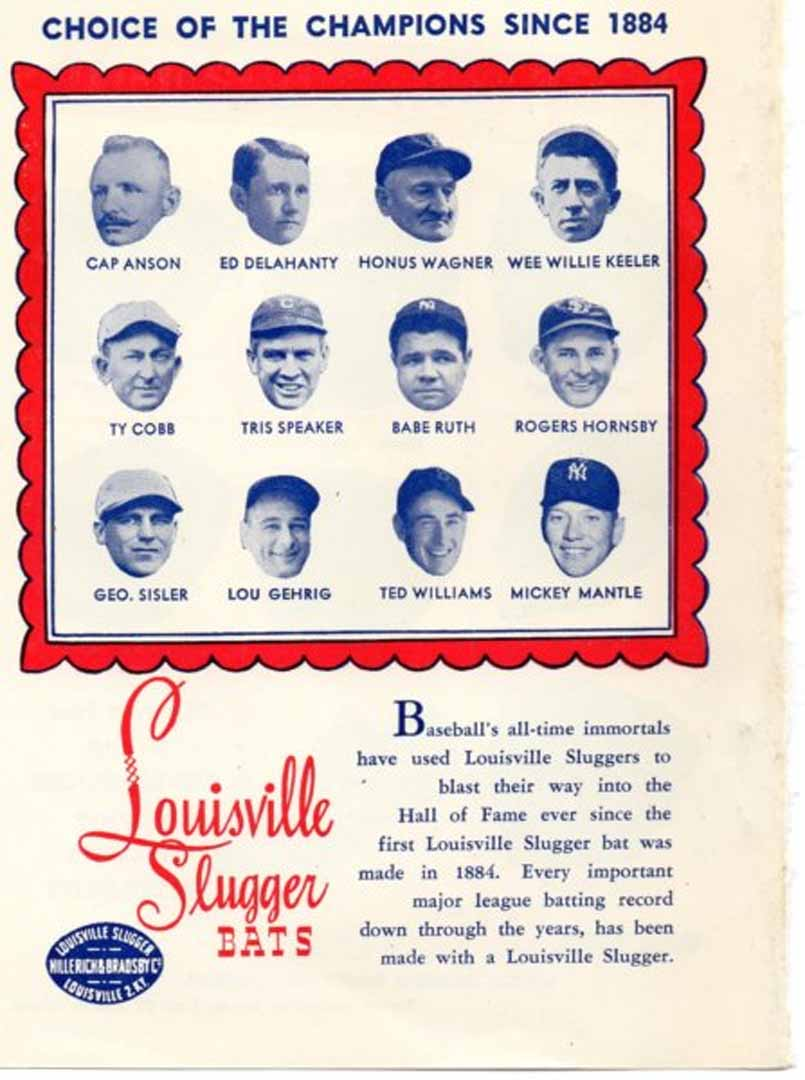 1958 daguerreo types of great baseball stars