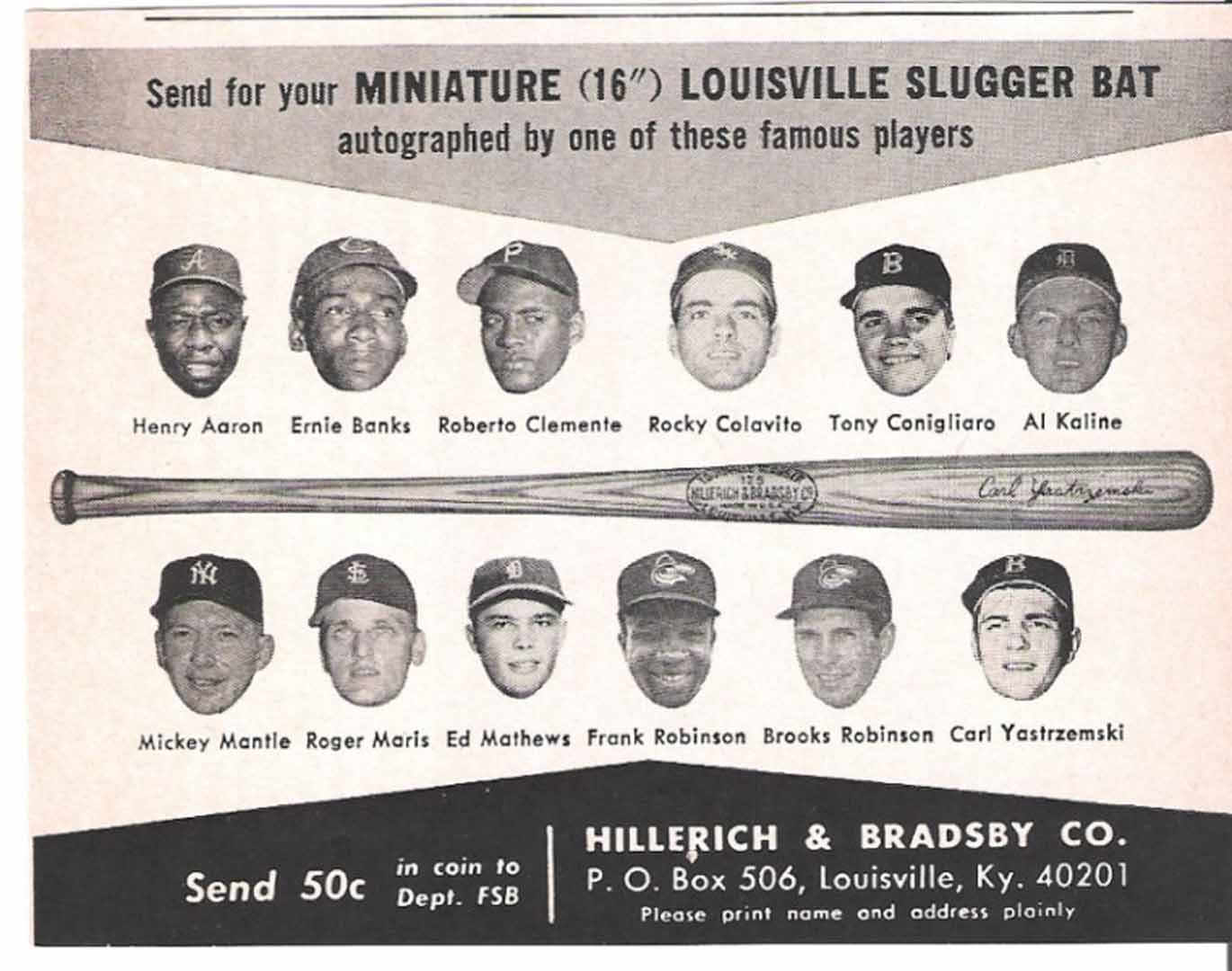 1968 h and b famous sluggers
