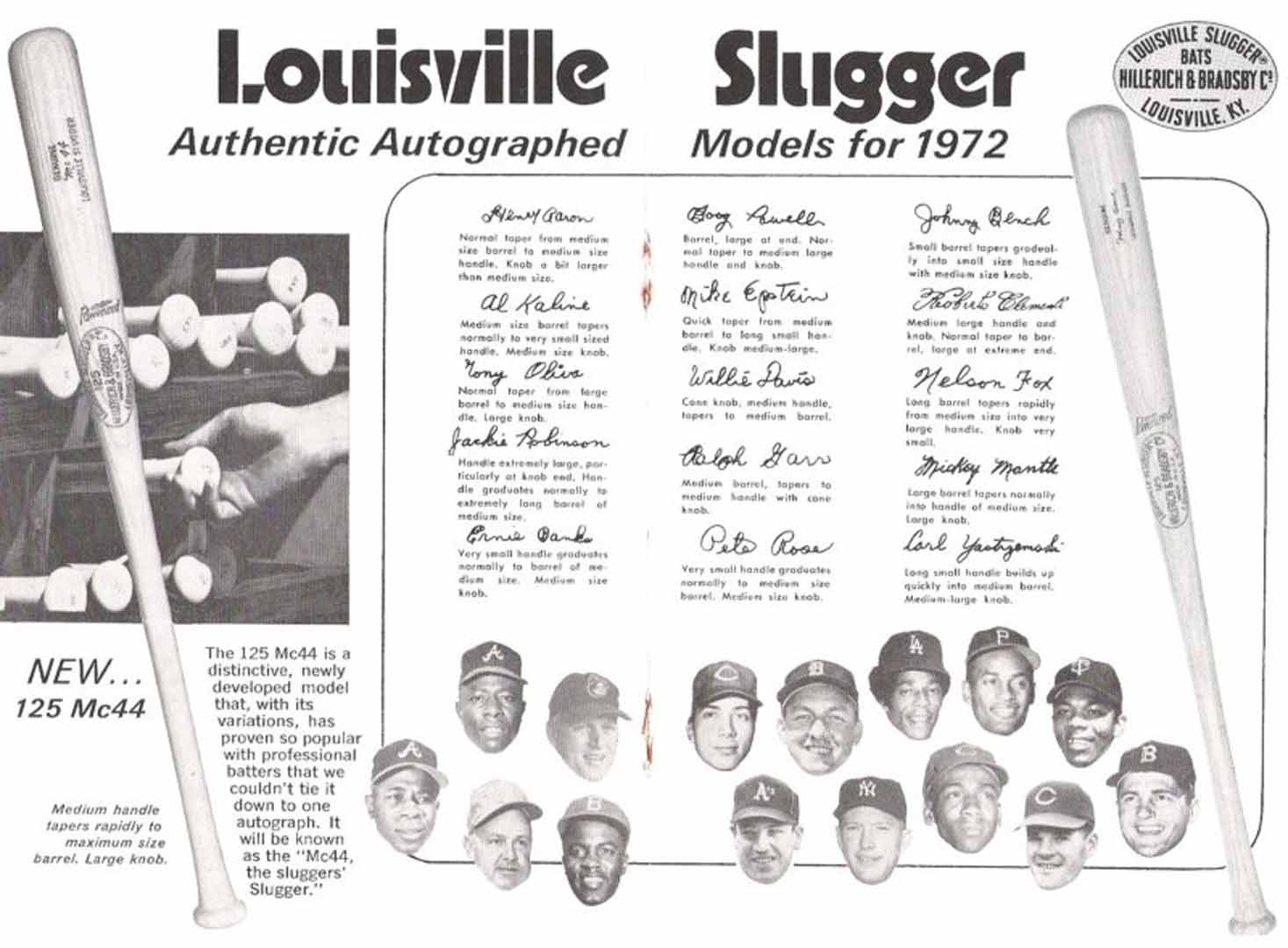 1972 h and b famous sluggers
