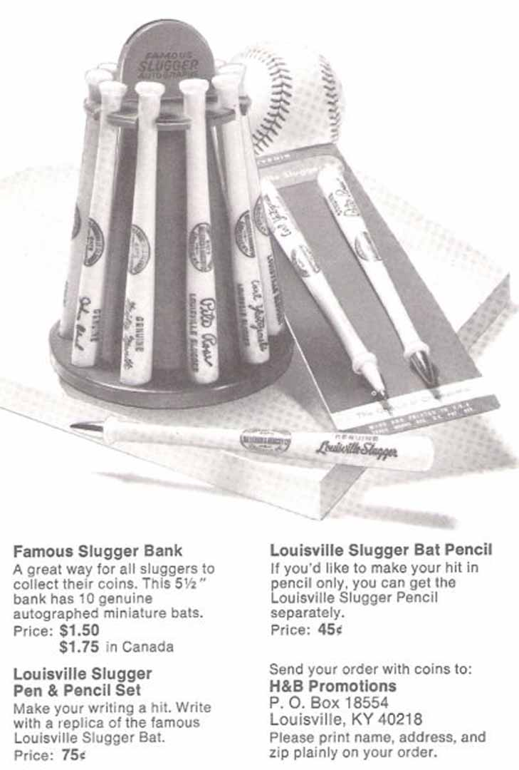 1974 h and b famous sluggers