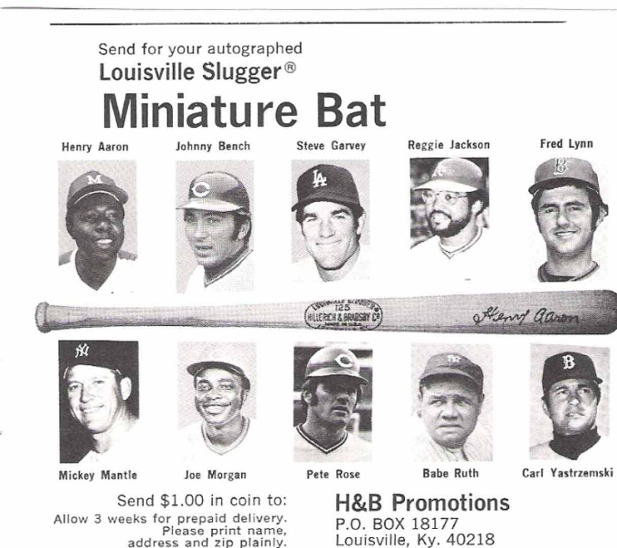 1977 h and b famous sluggers