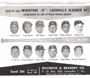1962 Hand B famous sluggers