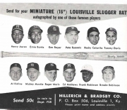 1963 H and B famous sluggers