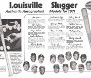 1971 h and b famous sluggers