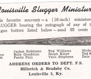 louisville sluggers year unknown