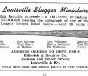 1958 louisville famous sluggers