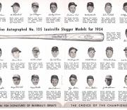 1954 louisville famous sluggers