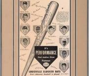 1953 louisville slugger cardboard ad