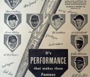 1954 H and B cardboard ad