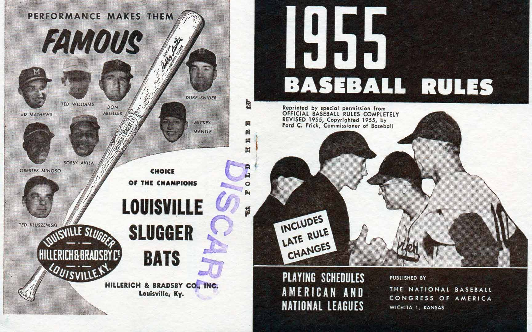 1955 national baseball congress official baseball annual