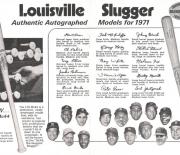1971 h and b famous sluggers