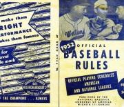 1952 official baseball rules nat bb congress wichita