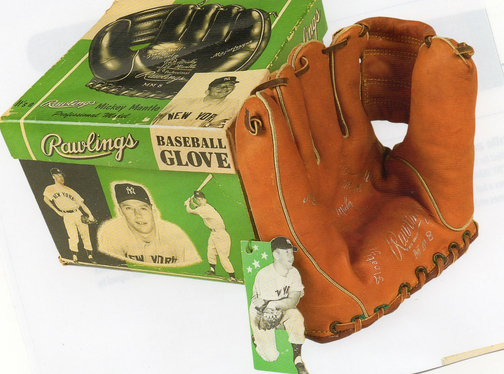 1954-1957 rawlings glove and box, w/tag