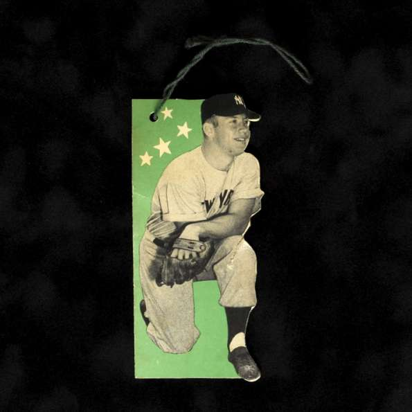 1957 57 Glove Tag Mickey Mantle